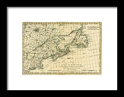Unique Newfoundland Map Art Fine Art America