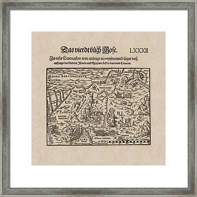 Antique Map Of Egypt And Israel Framed Print by Antique Images