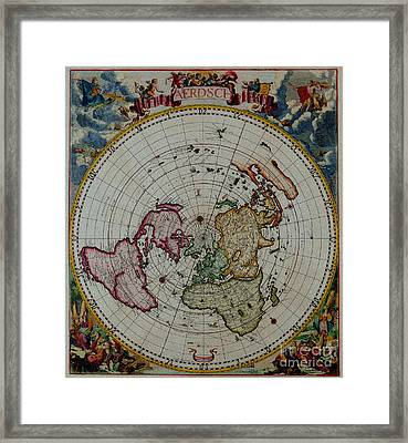 Antique Map Vintage Very Stylish Piece Framed Print by R Muirhead Art