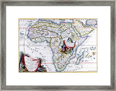 Antique Maps Of The World Map Of Africa Vincenzo Coronelli C 1692 Framed Print by R Muirhead Art