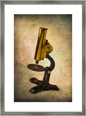 Antique Micrscope Framed Print by Garry Gay