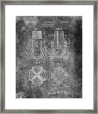 Antique Oil Drilling Bit Framed Print