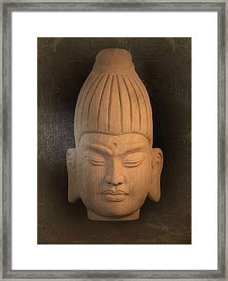 antique oil effect Buddha Burmese Framed Print by Terrell Kaucher