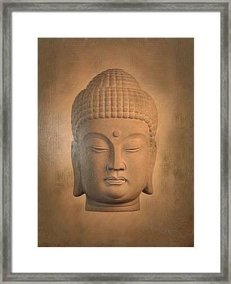 antique oil effect Buddha Korean , Framed Print by Terrell Kaucher