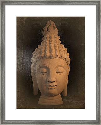 antique oil effect Buddha Sukhothai Framed Print by Terrell Kaucher