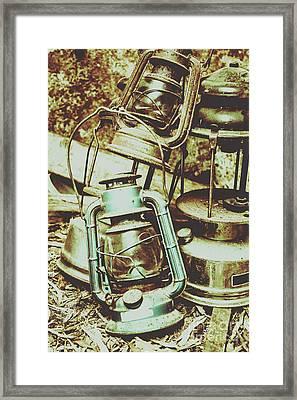 Antique Oil Lantern Fine Art Framed Print