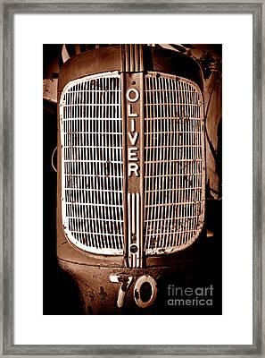 Antique Oliver 70 Framed Print by Olivier Le Queinec