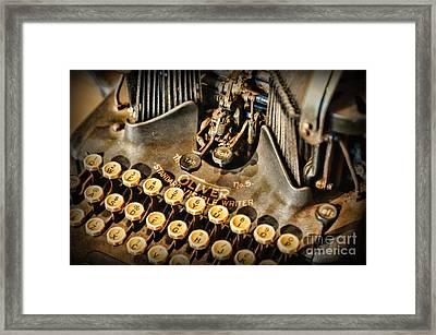 Antique Oliver Typewriter Framed Print by Paul Ward
