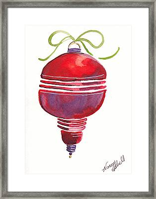 Antique Ornament In Red Framed Print by Michele Hollister - for Nancy Asbell