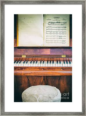 Framed Print featuring the photograph Antique Piano And Music Sheet by Silvia Ganora
