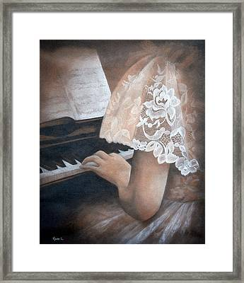 Antique Piano Framed Print by Rachel Lawson