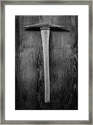 Antique Pickaxe Framed Print by YoPedro