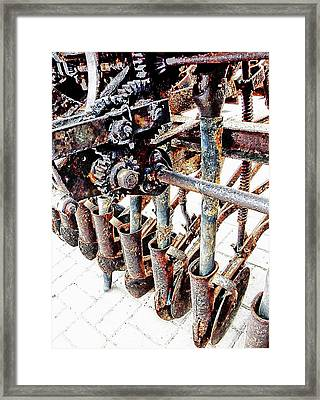 Antique Horse Drawn Seed Tiller Detail Framed Print by Dorothy Berry-Lound