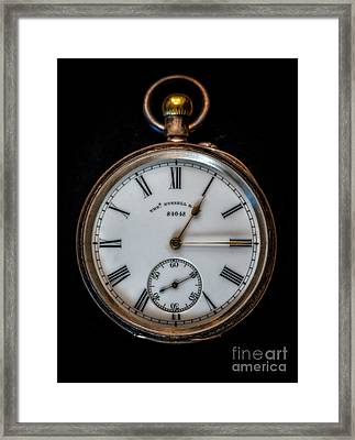 Antique Pocket Watch Framed Print by Adrian Evans