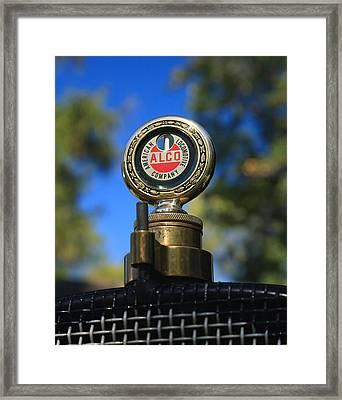 Antique Radiator Temperature Gauge Framed Print by David Smith
