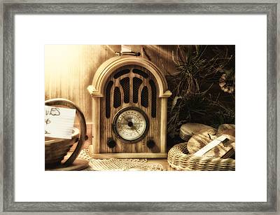Antique Radio Framed Print by Thomas Woolworth