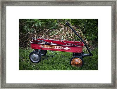 Antique Red Wagon Framed Print