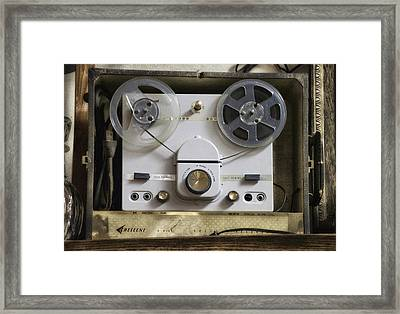 Antique Reel To Reel Tape Player Framed Print by Thomas Woolworth