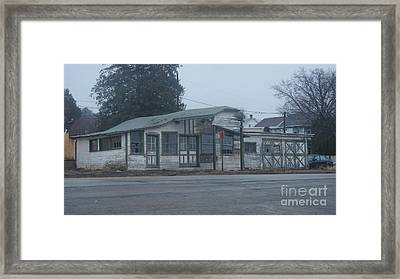 Antique Refueling Station   # Framed Print by Rob Luzier