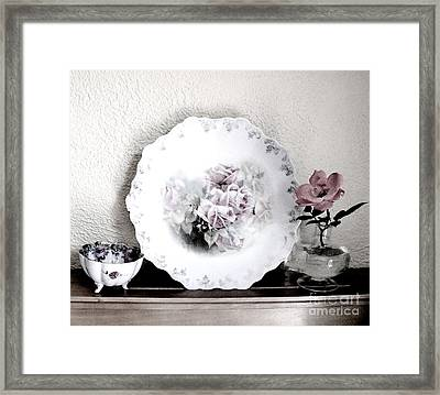Antique Roses Of Old Framed Print by Marsha Heiken