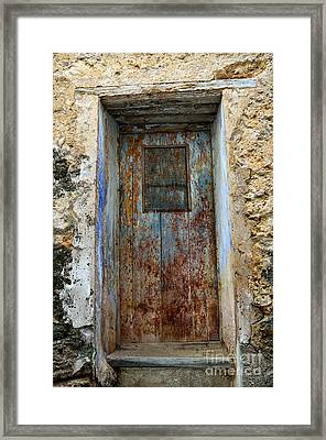 Antique Rustic Door Framed Print by RicardMN Photography
