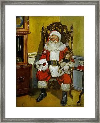 Antique Santa Framed Print