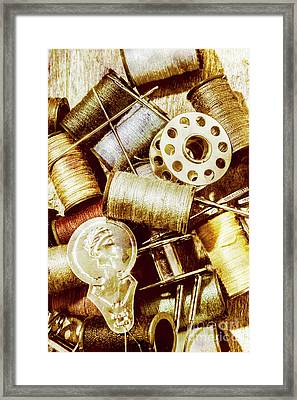 Framed Print featuring the photograph Antique Sewing Artwork by Jorgo Photography - Wall Art Gallery