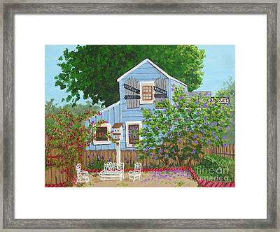 Framed Print featuring the painting Antique Shop, Cambria Ca by Katherine Young-Beck