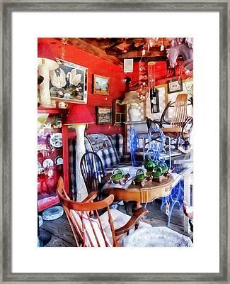 Antique Shop Framed Print by Susan Savad