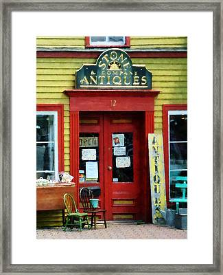 Antique Shop With Two Chairs Framed Print