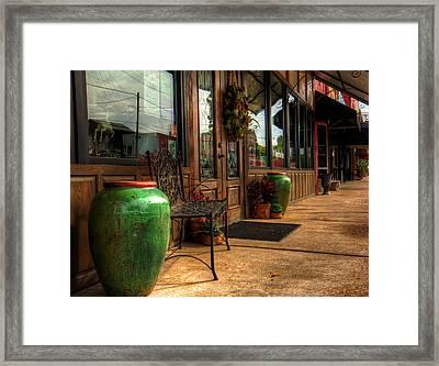 Antique Shops Framed Print