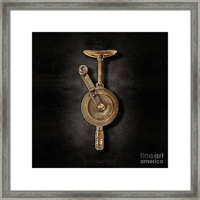 Antique Shoulder Drill Front On Black Framed Print
