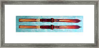 Antique Skis Framed Print
