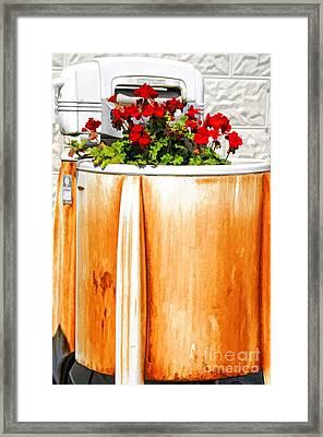Antique Speed Queen Washing Machine Framed Print by Kathleen K Parker