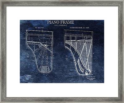 Antique Steinway Piano Patent Framed Print by Dan Sproul