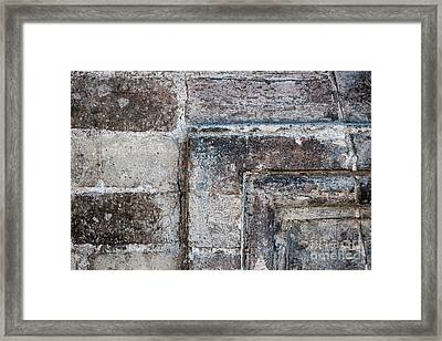 Antique Stone Wall Detail Framed Print by Elena Elisseeva