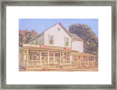 Antique Store, Colonial Beach Virginia Framed Print
