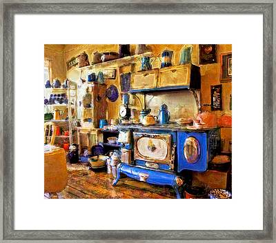 Antique Store Kitchen Framed Print