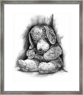 Antique Stuffed Animal Framed Print