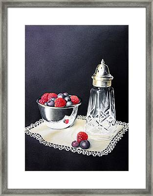 Antique Sugar Shaker Framed Print by Brenda Brown