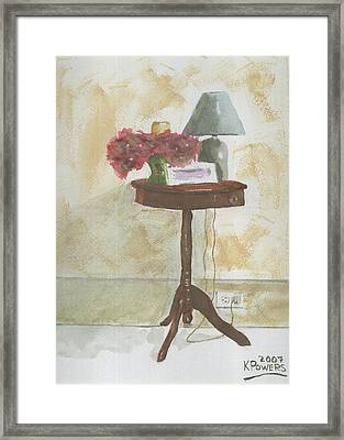 Antique Table Framed Print by Ken Powers