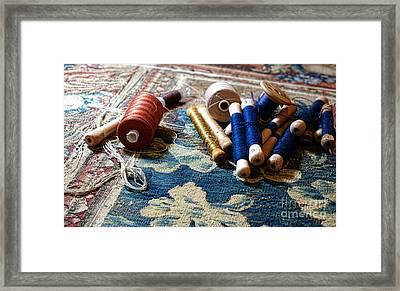 Antique Tapestry Repair  Framed Print