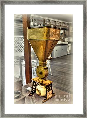 Antique Tea Dispenser By Kaye Menner Framed Print by Kaye Menner
