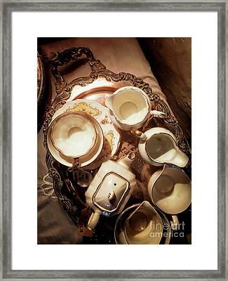 Antique Tea Set Framed Print