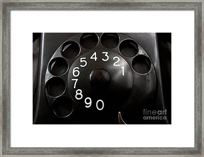 Framed Print featuring the photograph Antique Telephone Dial by Gunter Nezhoda