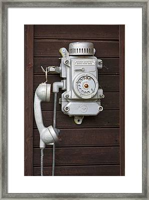 Antique Telephone Framed Print by Jaak Nilson