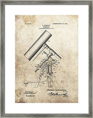 Antique Telescope Patent Framed Print by Dan Sproul