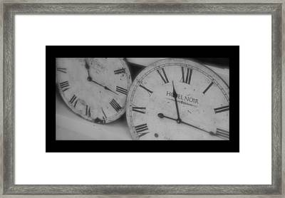 Antique Time Framed Print