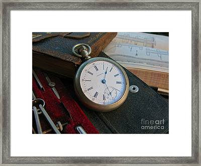 Antique Time Framed Print by PJ  Cloud