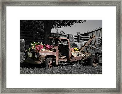 Framed Print featuring the photograph Antique Tow Truck by Kirkodd Photography Of New England